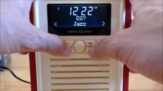 Videoreview zum View Quest Retro Mini Digitalradio mit DAB, DAB+, FM, Bluetooth und Wecker