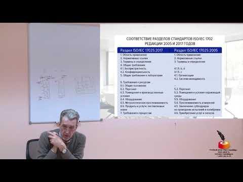 Соответствие разделов ISOIEC 17025 редакции 2005 и 2017 годов