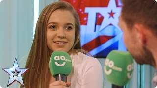Kyle Tomlinson and Leah Barniville chat exclusively in BGT