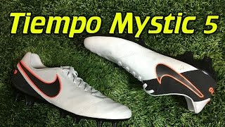 Nike Tiempo Mystic 5 Pure Platinum/Hyper Orange - Review + On Feet