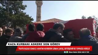 Kazada hayatını kaybeden uzman çavuş Konya'da defnedildi