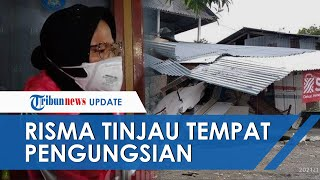 Tinjau Stadion Mamuju Tempat Pengungsian Korban Gempa, Tri Rismaharini: 100 Tenda Didirikan