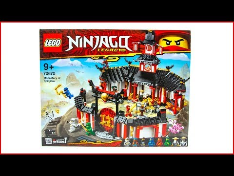 LEGO NINJAGO 70670 Monastery of Spinjitzu Construction Toy - UNBOXING