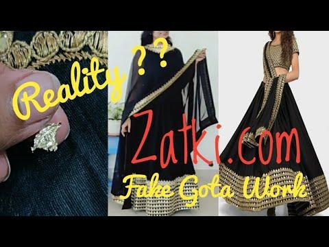 Lehnga Review - Zatki.com | Disappointment - Fake Gota Work | Kaise Itne Cheap milte Hain outfits