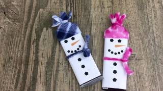 Free Printable Snowman Candy Bars Wrappers Template