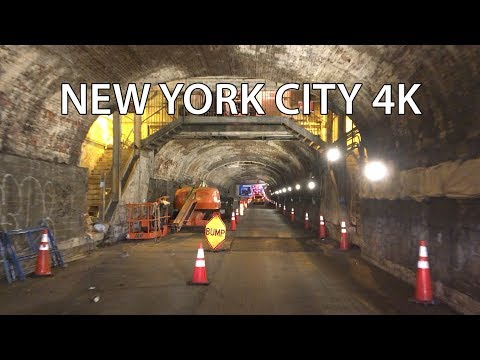 Drive 4K - 1830's Tunnel Middle of New York City - USA