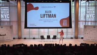 Alex Liftman, Bank of America - Opening Ceremony, Climate Week NYC 2019