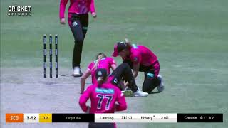 Ellyse Perry run out Sydney Sixers v  Perth Scorchers