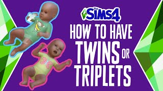How to Have Twins or Triplets in The Sims 4 (WITHOUT MODS OR CHEATS) 🍼👶