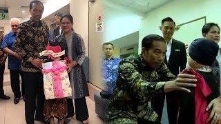 Dijenguk Jokowi dan Iriana, Shakira Anak Denada Kegirangan saat Diberi Hadiah Hello Kitty
