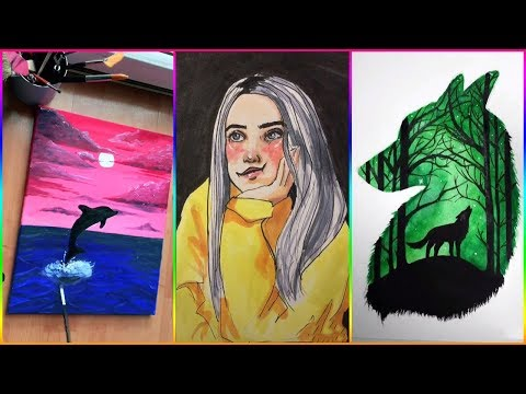 Best Tik Tok Painting & Drawing Compilation Video #4