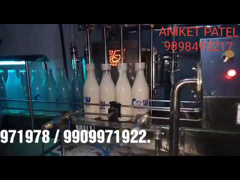 Automatic Glass Bottle Milk Filling and Capping Machine