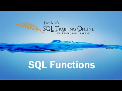 SQL Functions - SQL Training Online - Quick Tips Ep17 - YouTube