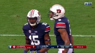 Auburn Football vs Alabama Highlights