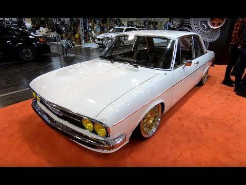 AUDI 100 C1 LS COUPE WHITE COLOUR VOSSEN WHEELS LOWERED TUNING SHOW CAR WALKAROUND