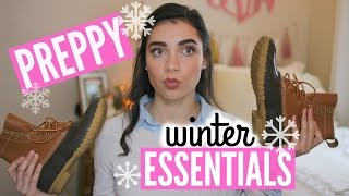 PREPPY WINTER ESSENTIALS!
