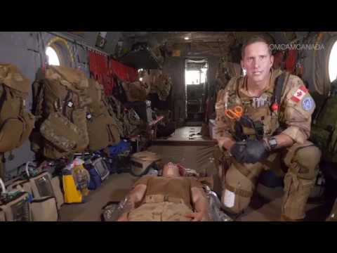 Find out what a Emergency Room looks like in the back of a Combat Helicopter
