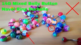 ✅  How To Use 14G Mixed Belly Button Navel Ring Barbells Review