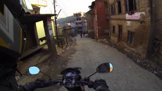 preview picture of video 'GoPro Motorbike Drive Bhaktapur, Nepal'