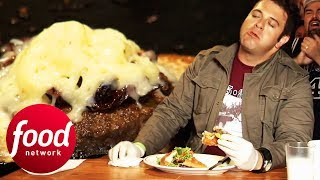 Can Adam Survive This Insane Ghost Chilli Burger Challenge?!   Man v Food