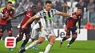 Did Cristiano Ronaldo dive to earn Juventus' winning penalty vs. Genoa? | Serie A