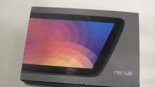 Google Nexus 10 Tablet Unboxing