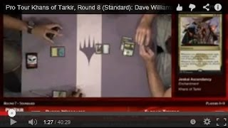 Pro Tour Khans of Tarkir, Round 8 (Standard): Dave Williams vs. Fabian Thiele