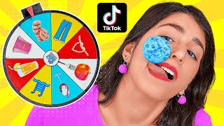 WE TESTED VIRAL TikTok LIFE HACKS AND TRICKS || Spin The Mystery Wheel by 123 GO! CHALLENGE