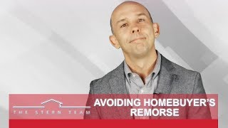 The Stern Team: Feeling Uncertain After Your Home Purchase? Here's My Advice