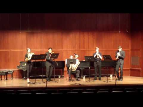 Performance of Vuelta Del Fuego, with Masterworks Brass Quintet, on the tenor trombone.