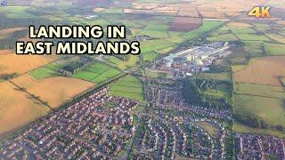 LANDING IN EAST MIDLANDS AIRPORT - UK  4K