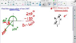 Unit 2 1 5 Special Triangles And Reference Angles Give Exact Ratios