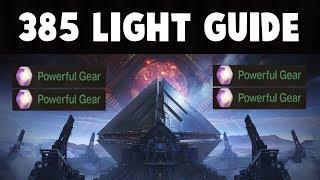 Destiny 2 - Light Level 385 Guide for NON-RAID players!!