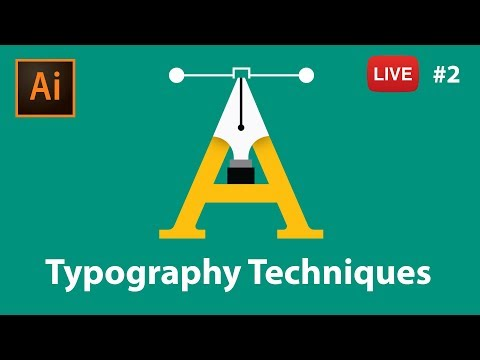 Typography with Adobe Illustrator CC - LIVE stream #2