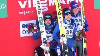 ❅2017.1.14スキーワールドカップジャンプ女子表彰式伊藤有希選手インタビューWorldCupSkiJumpingLadiesJAPANSapporo