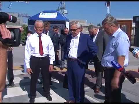 12 сентября Евгений Савченко посетил выставочную площадку Завода ЖБК-1