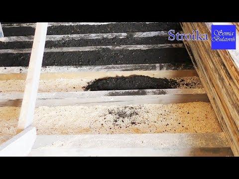 ДЕШЕВЫЙ ДОМ из газобетона Утепляем потолок  по старинке опил и земля Экологически чистый утеплитель