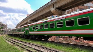 New Banalata Express leaving Dhaka Railway Station || PT INKA made high-speed train of BD Railway