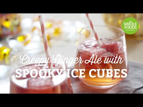 Halloween Recipe: Creepy Ginger Ale with Spooky Ice Cubes | Freshly Made l Whole Foods Market