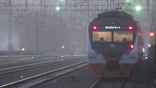 Электропоезд ЭД4М-0493 ЦППК станция Нара 17.10.2018