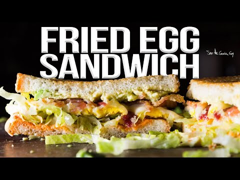 The World's Best Fried Egg Sandwich Recipe |SAM THE COOKING GUY