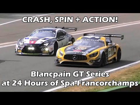 CRASH + ACTION! Blancpain GT Series at 24 Hours of Spa-Francorchamps 2018