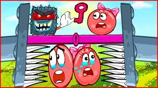 ЛОВУШКА! Красный шарик в беде. Видео для детей про приключения в Red Ball 3