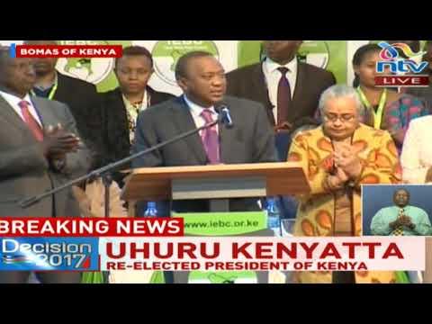 Uhuru Kenyatta's address to the nation after being re-elected as President of Kenya