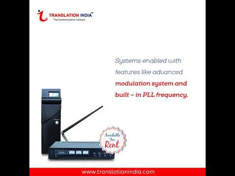 RF Digital Simultaneous Interpretation Equipments