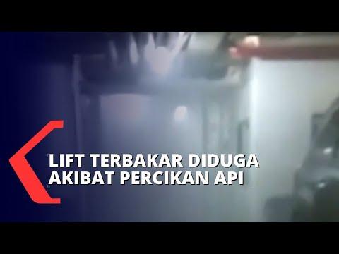 kebakaran lift gedung nusantara dpr diduga dari percikan api las