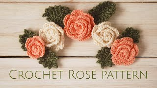 Crochet Rose Pattern - Moara Crochet