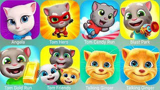 My Talking Tom 2,Tom Jump,Angela,Candy Run,Pool,Gold Run,Jetski,Hungry Shark,Hungry Shark Evolution