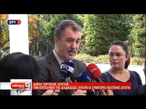 Δίκη Χ.Α.: Την επιτάχυνση της διαδικασίας ζητούν οι συνήγοροι πολιτικής αγωγής   7/11/18   ΕΡΤ