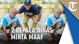 Viral Foto 2 Kepala Dinas Tulangbawang Berdiri di Atas Kura-kura, Ini Penjelasannya